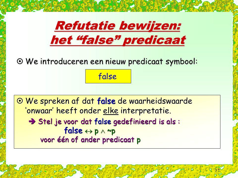 Refutatie bewijzen: het false predicaat