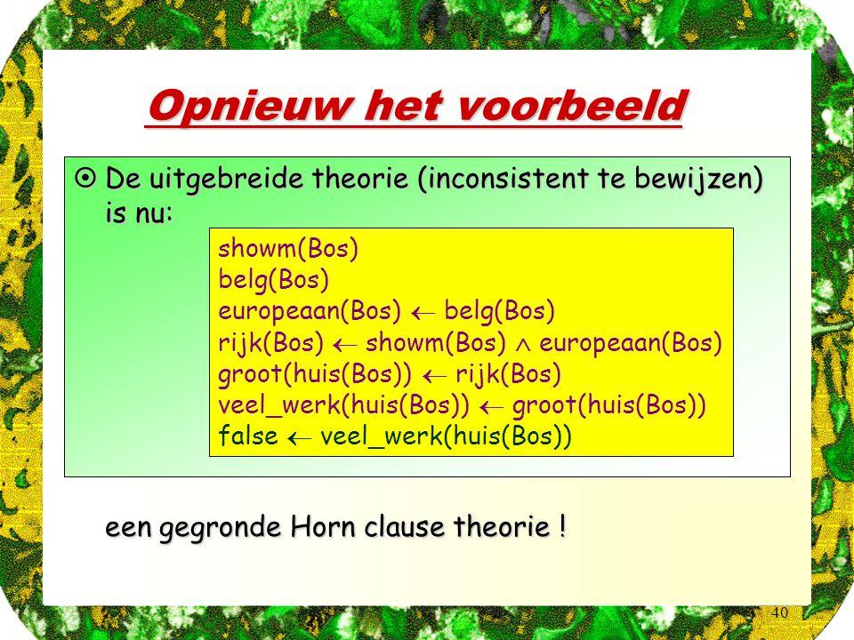 Opnieuw het voorbeeld showm(Bos) belg(Bos) europeaan(Bos)  belg(Bos) rijk(Bos)  showm(Bos)  europeaan(Bos)