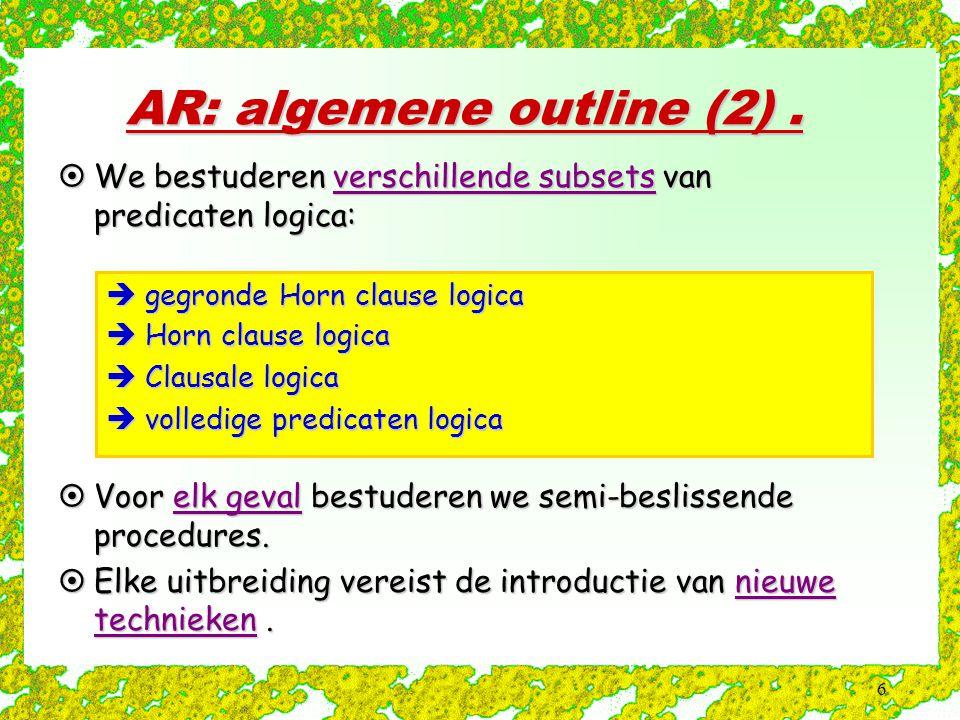 AR: algemene outline (2) .