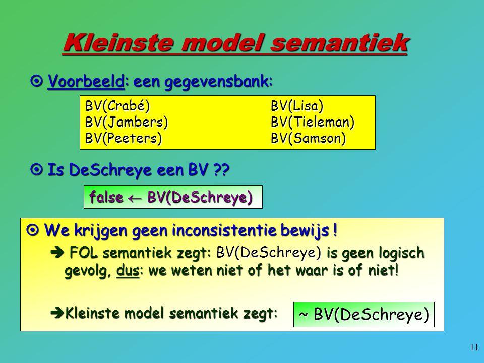 Kleinste model semantiek