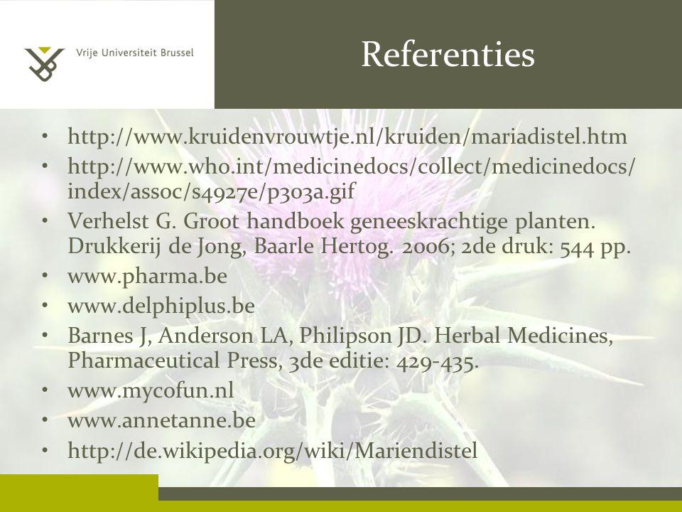 Referenties http://www.kruidenvrouwtje.nl/kruiden/mariadistel.htm
