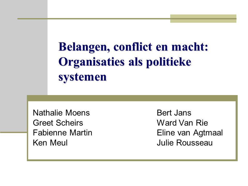 Belangen, conflict en macht: Organisaties als politieke systemen