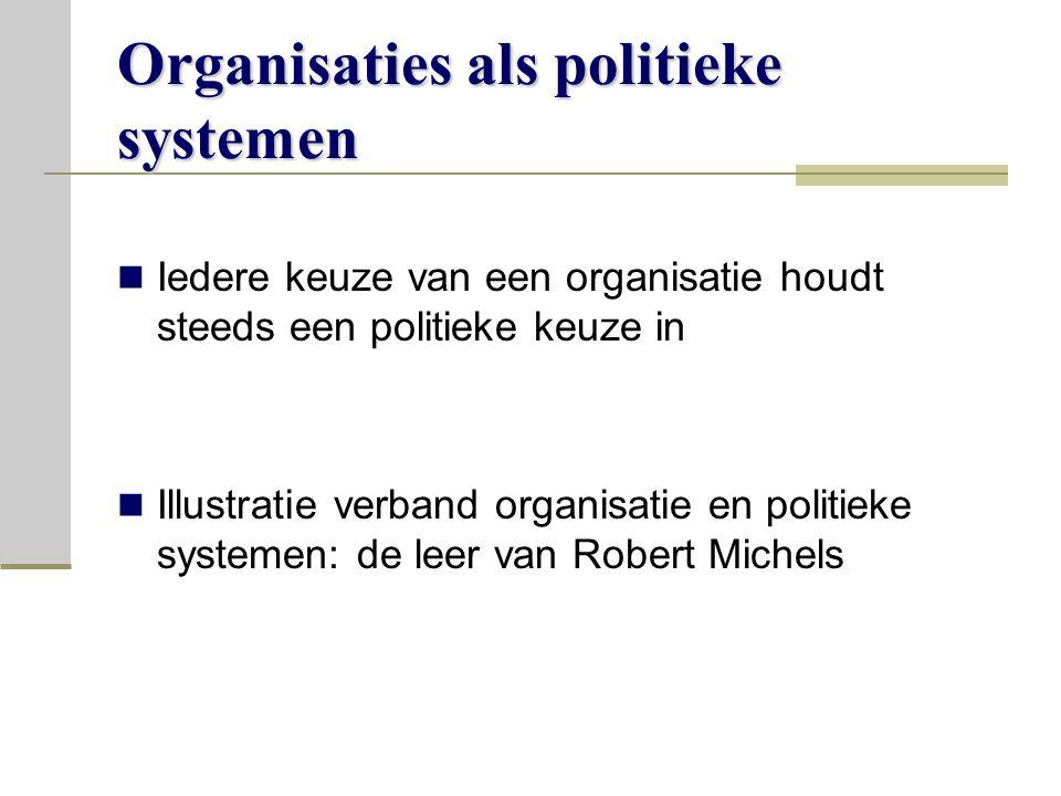 Organisaties als politieke systemen
