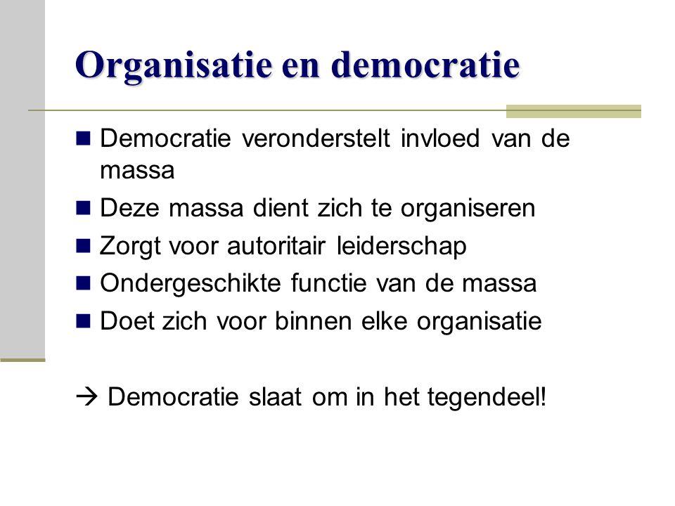 Organisatie en democratie