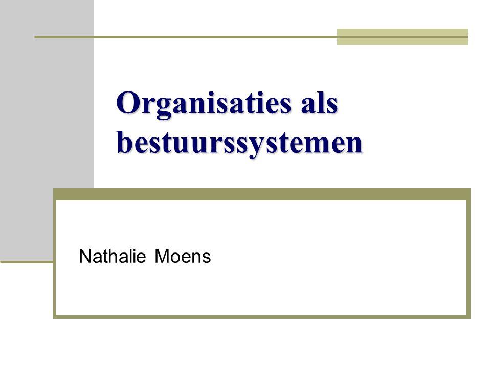 Organisaties als bestuurssystemen