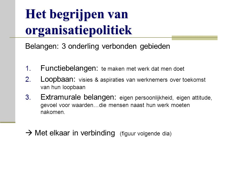 Het begrijpen van organisatiepolitiek