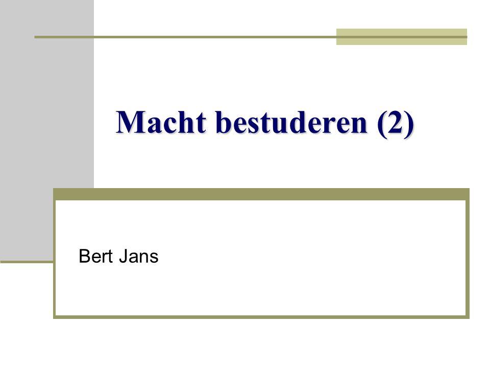 Macht bestuderen (2) Bert Jans