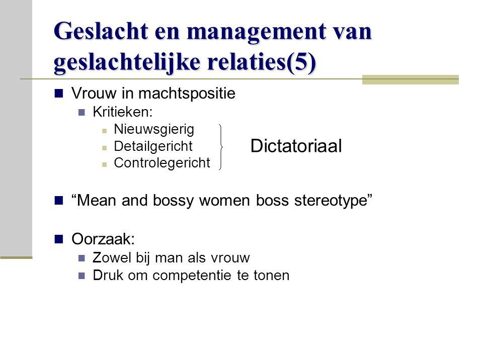 Geslacht en management van geslachtelijke relaties(5)