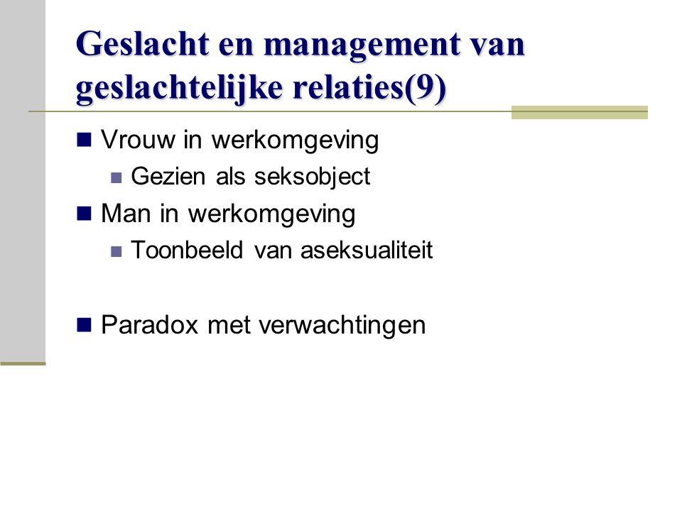 Geslacht en management van geslachtelijke relaties(9)