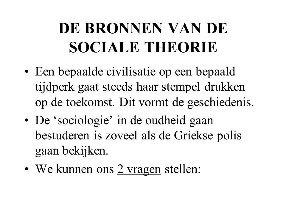 DE BRONNEN VAN DE SOCIALE THEORIE