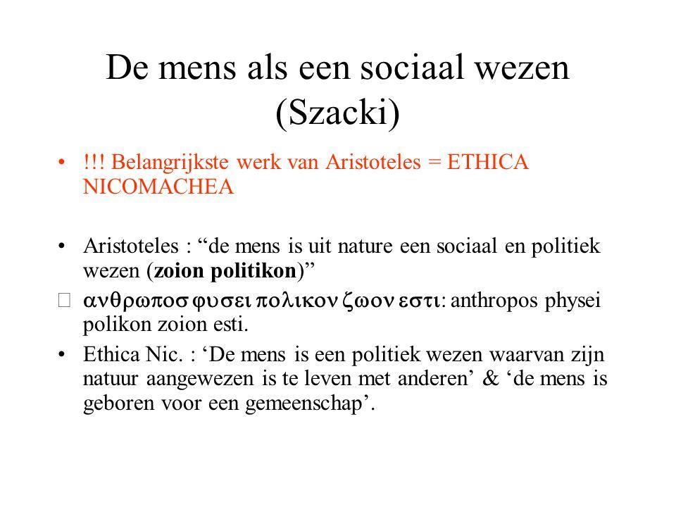 De mens als een sociaal wezen (Szacki)
