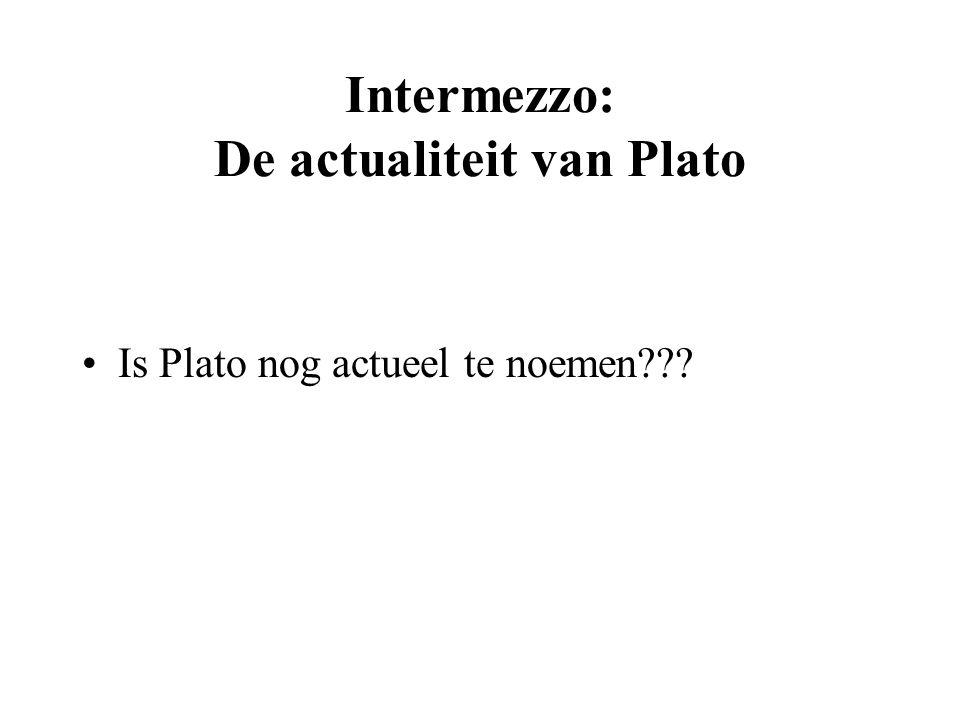 Intermezzo: De actualiteit van Plato