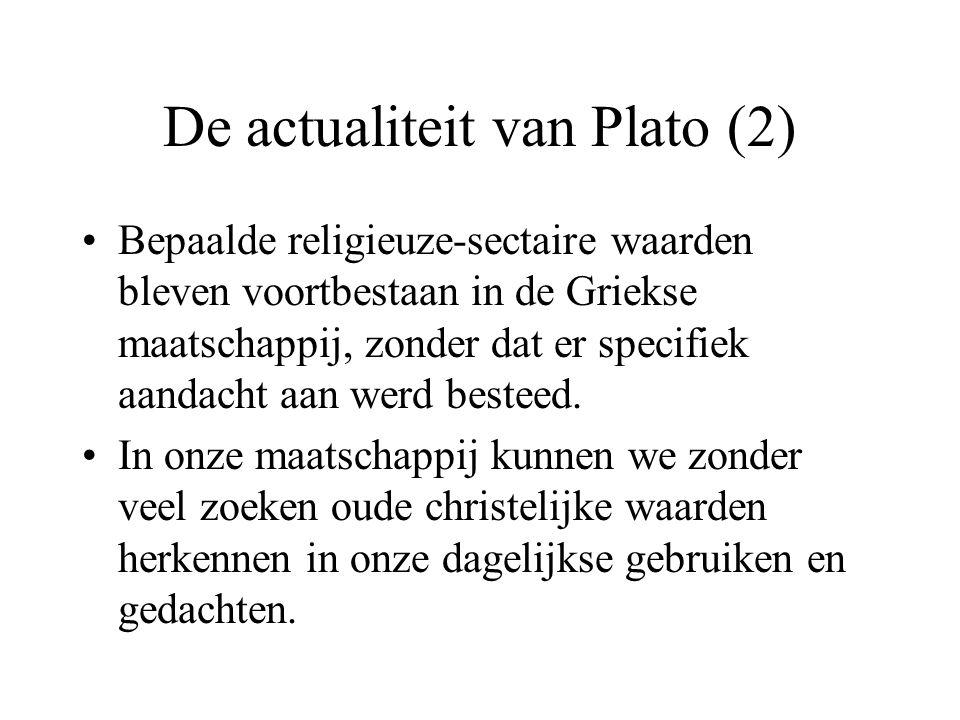 De actualiteit van Plato (2)