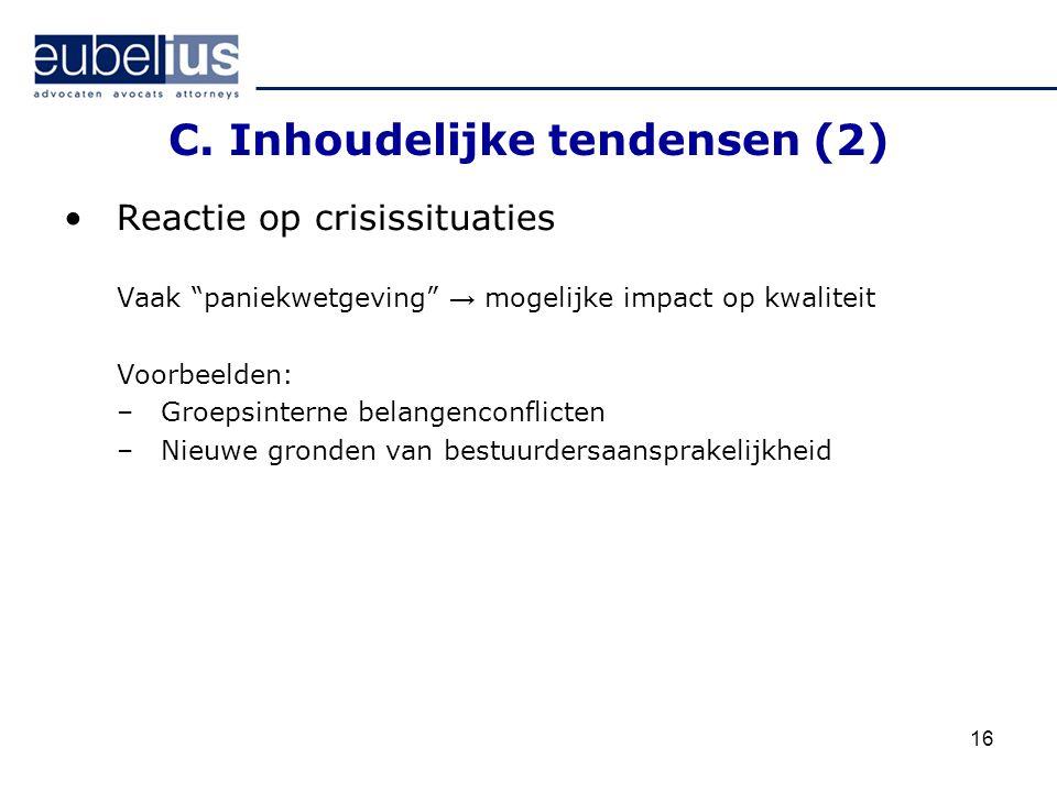 C. Inhoudelijke tendensen (2)