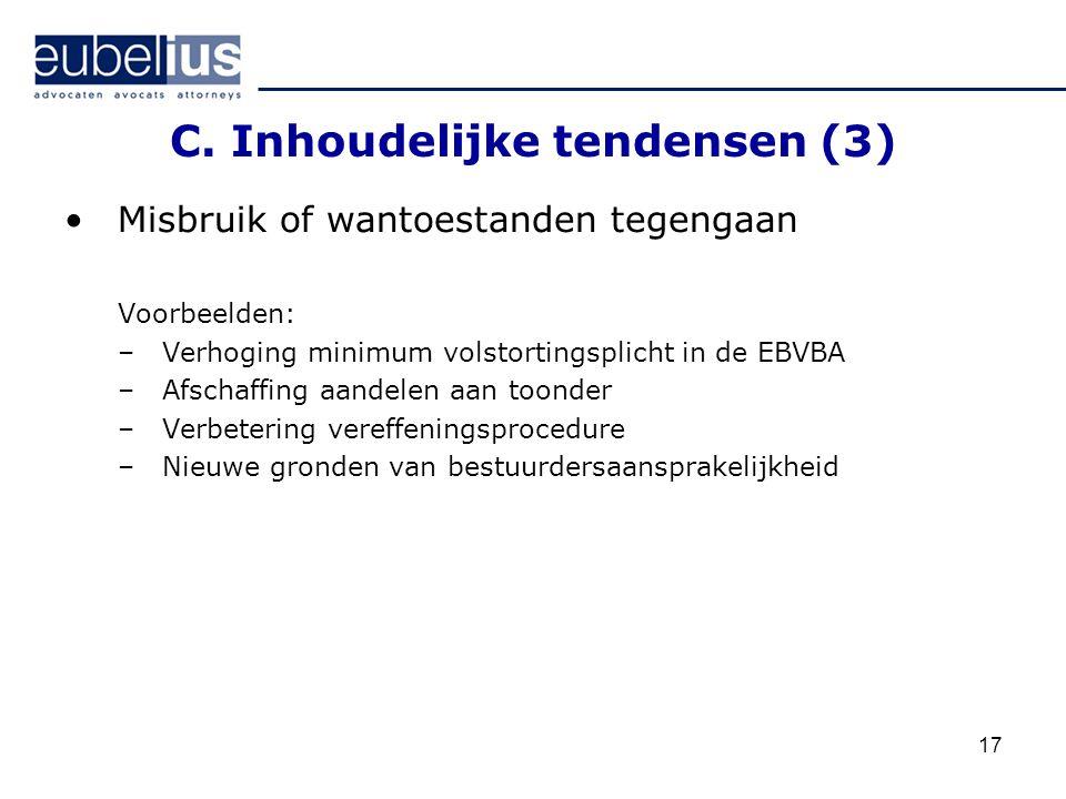 C. Inhoudelijke tendensen (3)