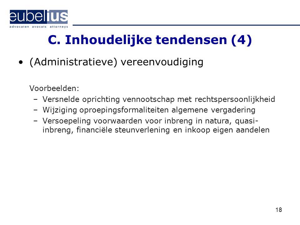 C. Inhoudelijke tendensen (4)