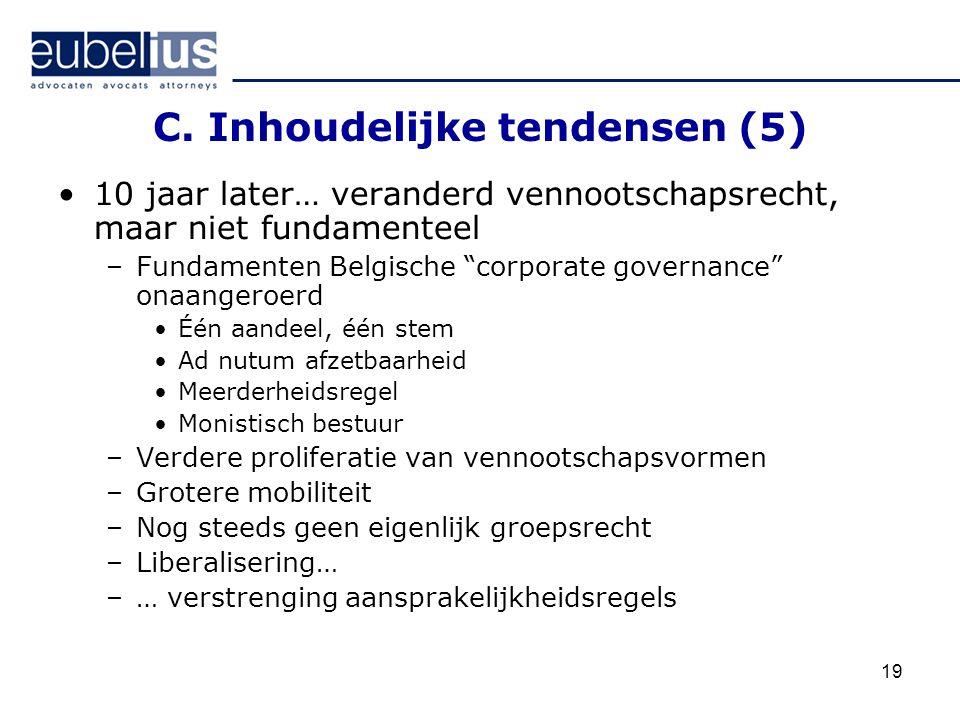 C. Inhoudelijke tendensen (5)