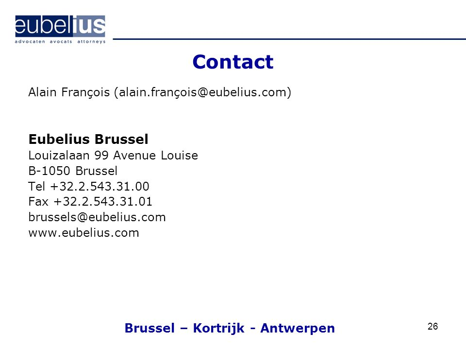 Brussel – Kortrijk - Antwerpen