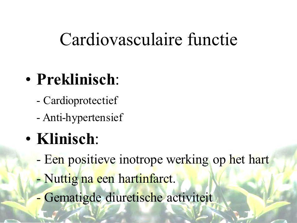 Cardiovasculaire functie