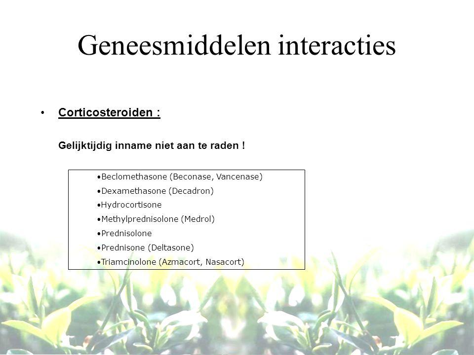 Geneesmiddelen interacties