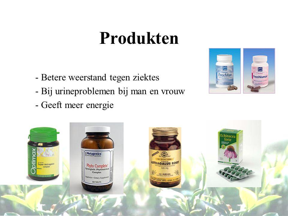 Produkten - Betere weerstand tegen ziektes