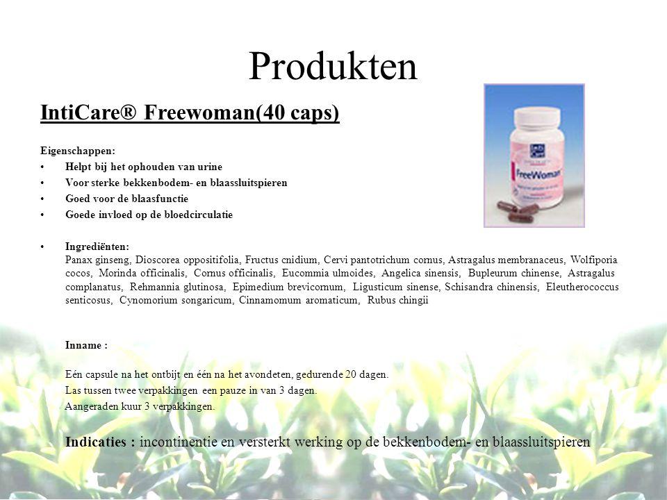 Produkten IntiCare® Freewoman(40 caps) Eigenschappen: