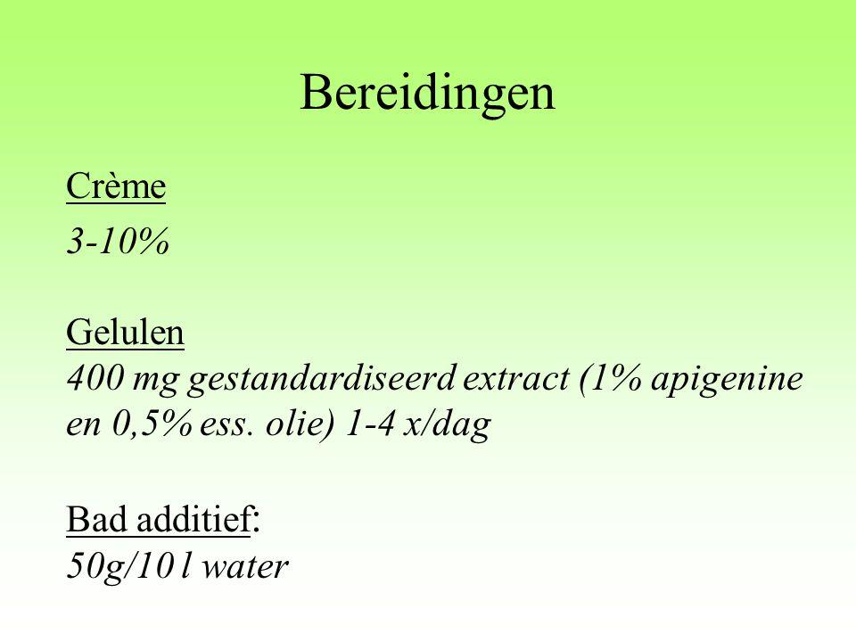 Bereidingen Crème 3-10% Gelulen