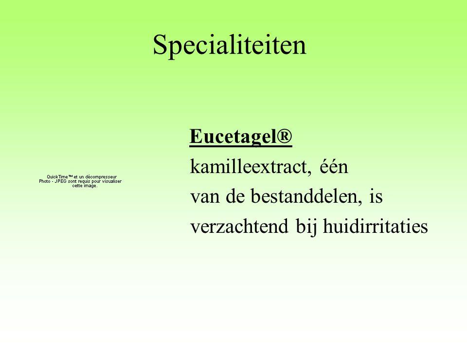 Specialiteiten kamilleextract, één van de bestanddelen, is