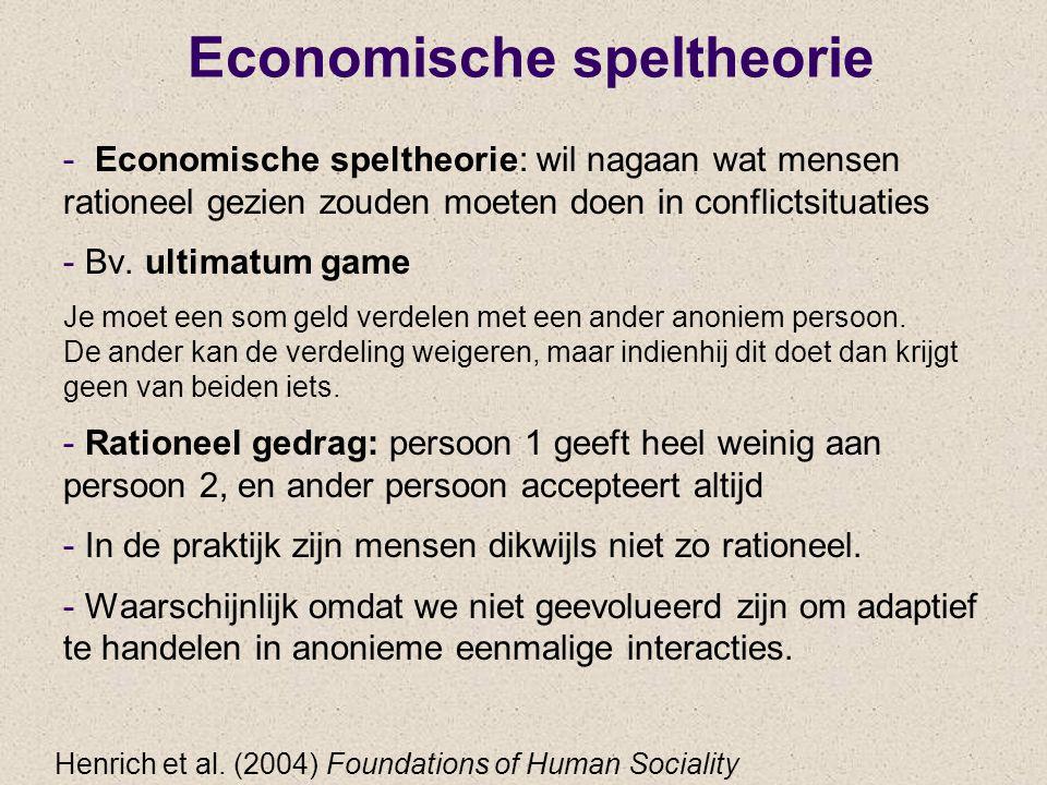 Economische speltheorie