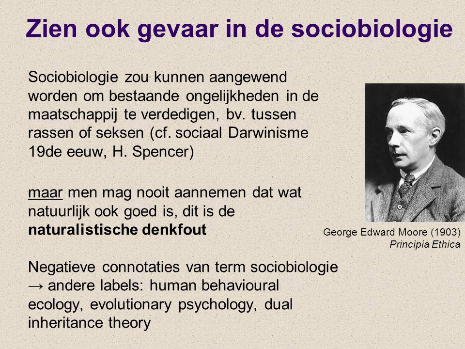 Zien ook gevaar in de sociobiologie