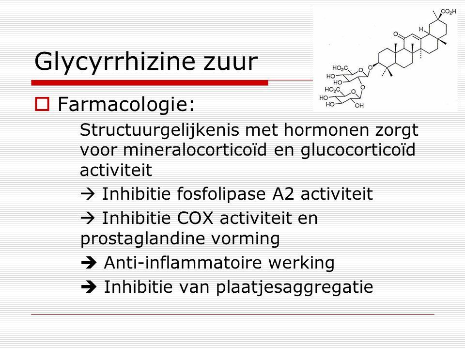 Glycyrrhizine zuur Farmacologie: