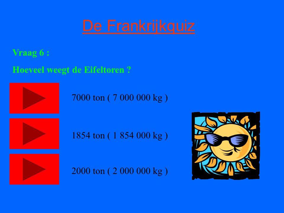 De Frankrijkquiz Vraag 6 : Hoeveel weegt de Eifeltoren