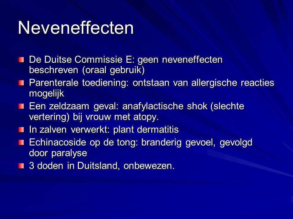 Neveneffecten De Duitse Commissie E: geen neveneffecten beschreven (oraal gebruik)