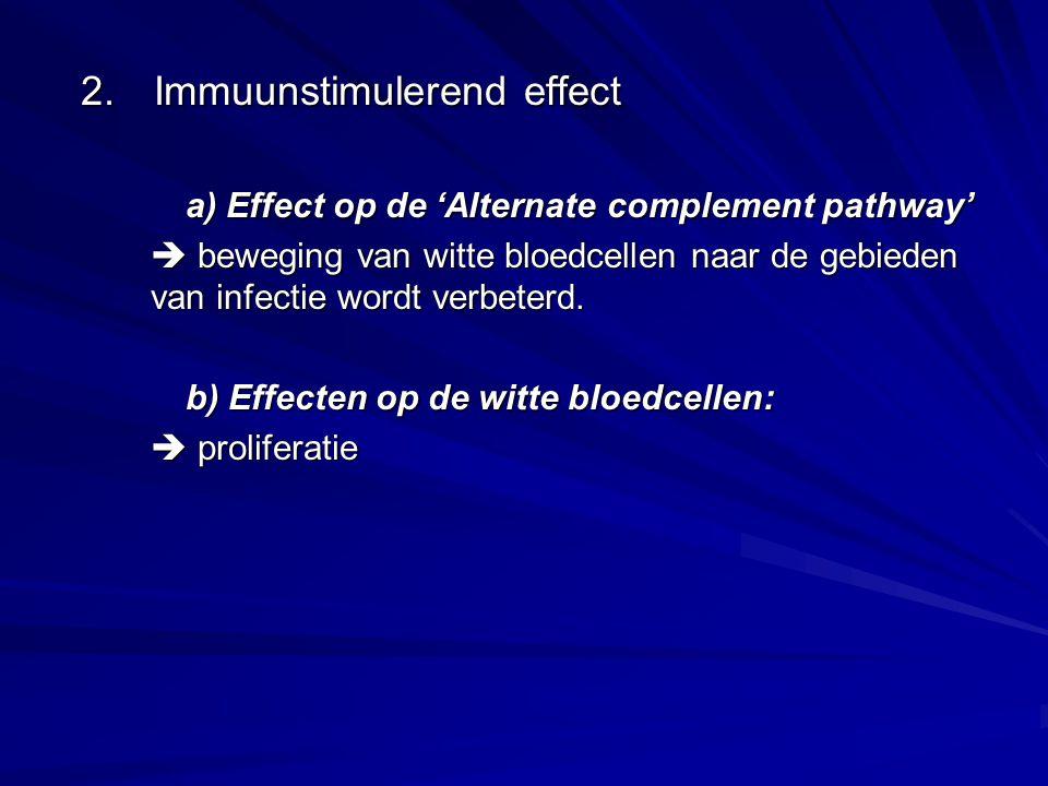 2. Immuunstimulerend effect