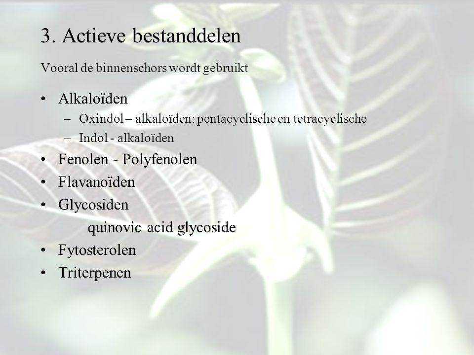 3. Actieve bestanddelen Alkaloïden Fenolen - Polyfenolen Flavanoïden