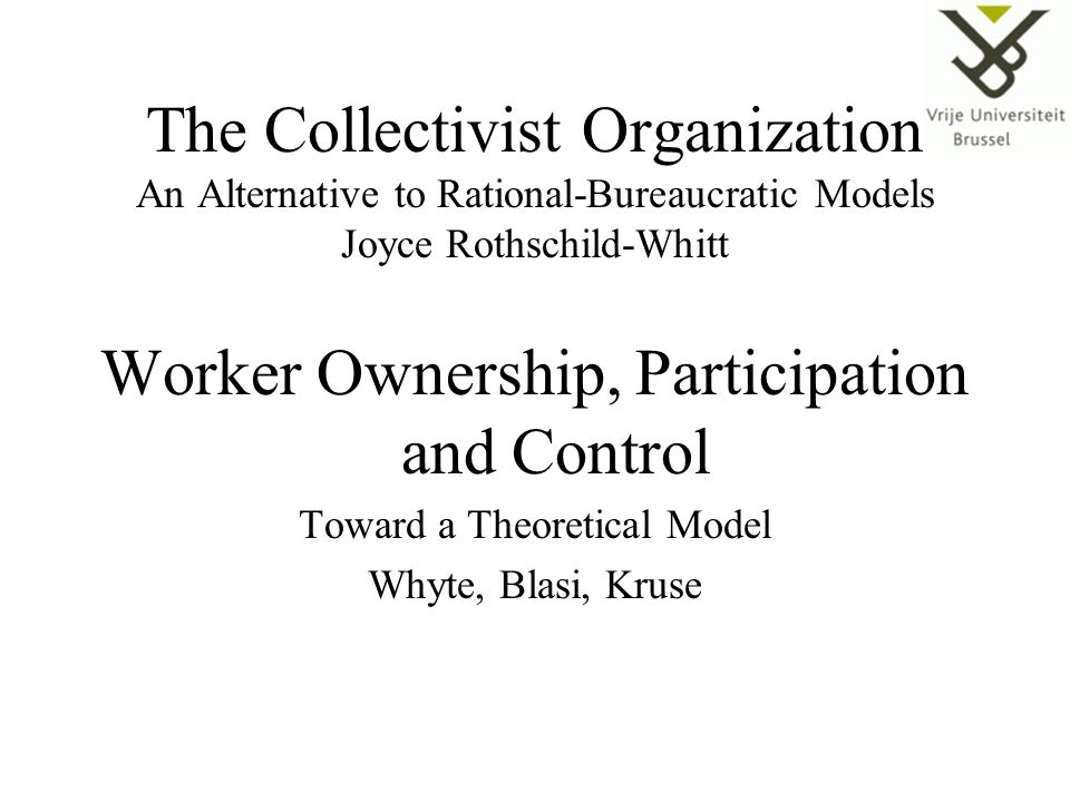 Worker Ownership, Participation and Control