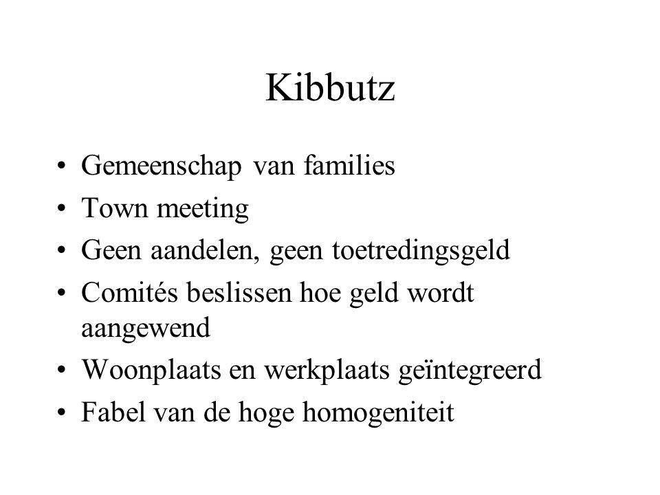 Kibbutz Gemeenschap van families Town meeting