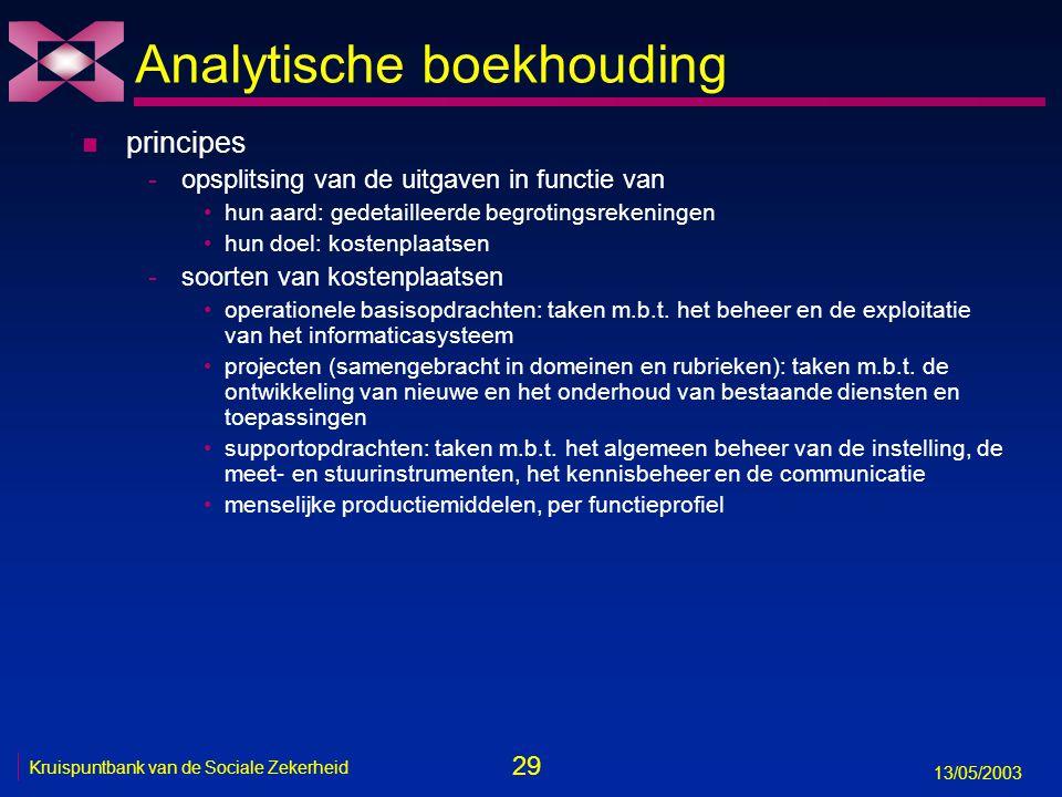 Analytische boekhouding
