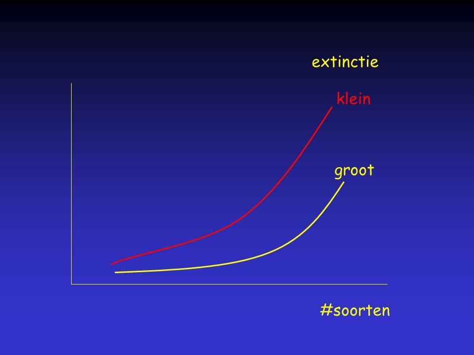 extinctie klein groot #soorten