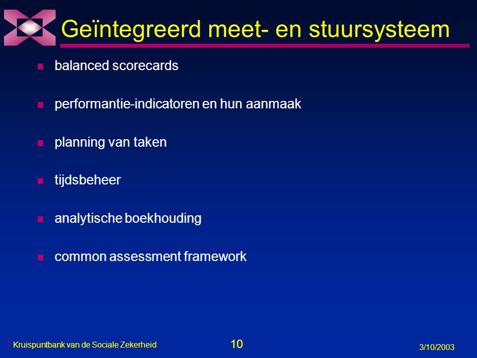 Geïntegreerd meet- en stuursysteem