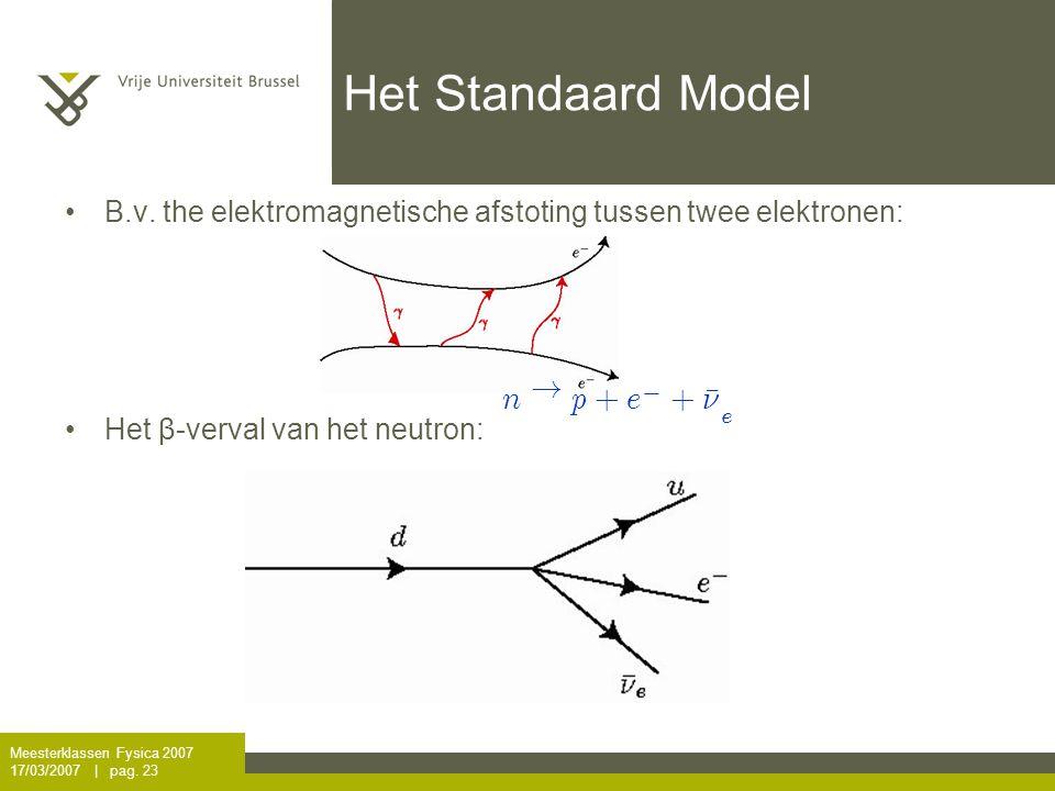 Het Standaard Model n ! p + e ¹ º