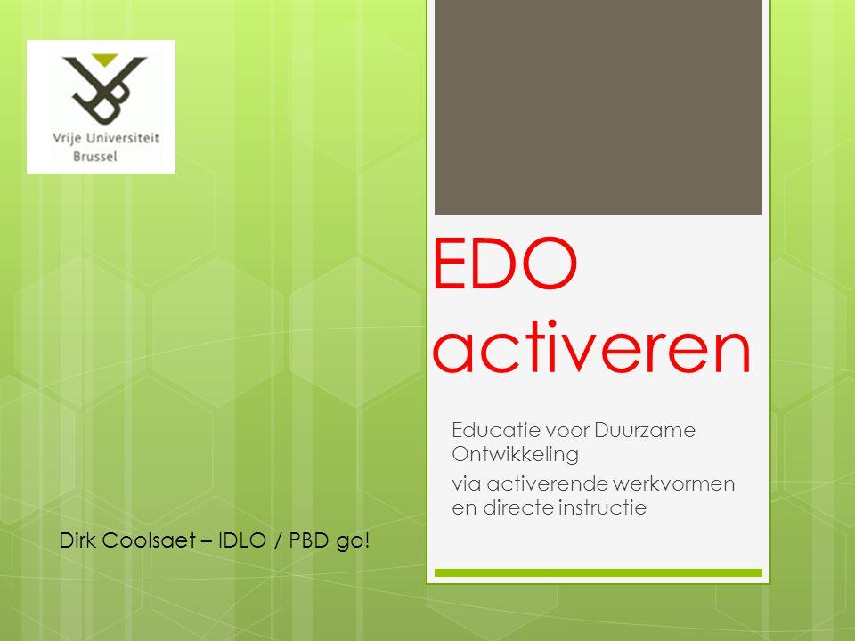 EDO activeren Dirk Coolsaet – IDLO / PBD go!