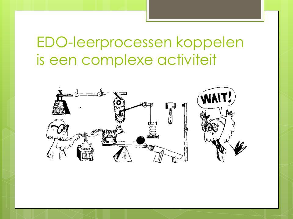EDO-leerprocessen koppelen is een complexe activiteit