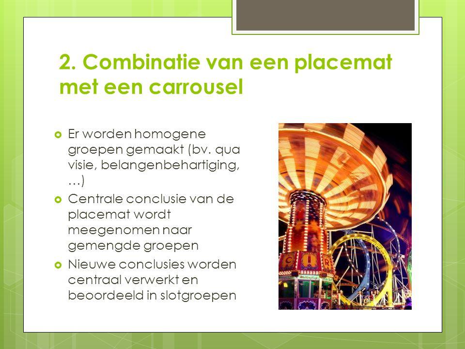 2. Combinatie van een placemat met een carrousel