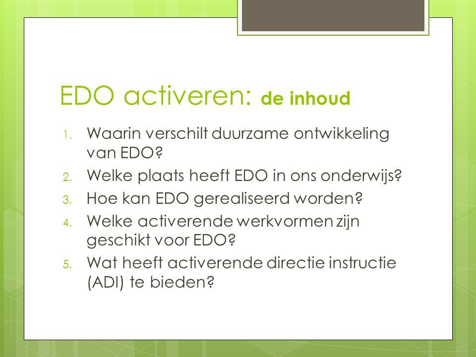 EDO activeren: de inhoud