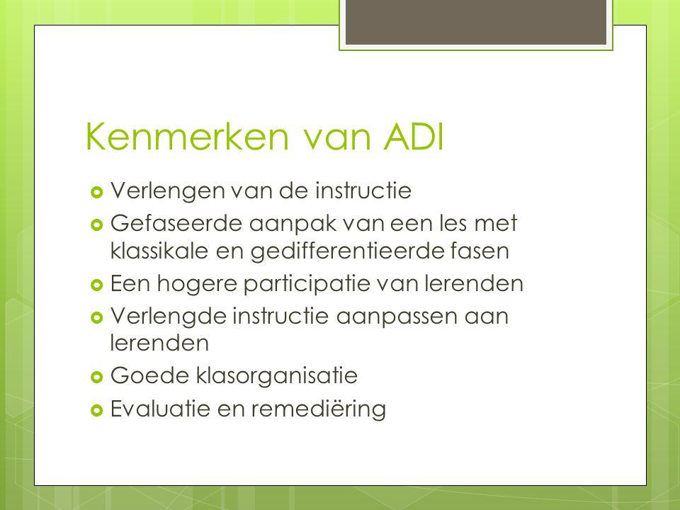 Kenmerken van ADI Verlengen van de instructie