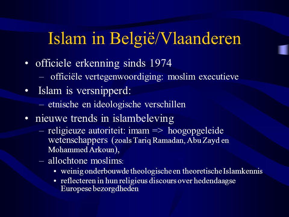 Islam in België/Vlaanderen