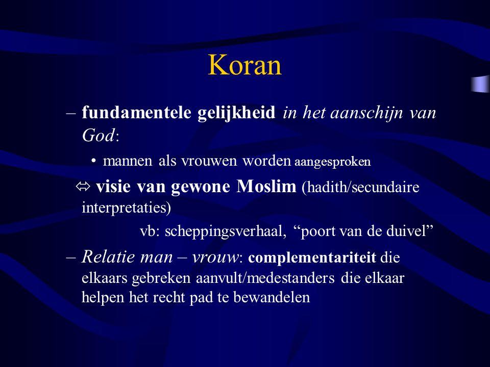 Koran fundamentele gelijkheid in het aanschijn van God: