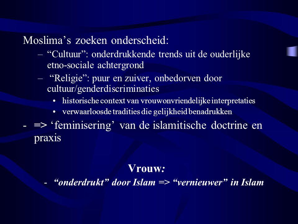 onderdrukt door Islam => vernieuwer in Islam