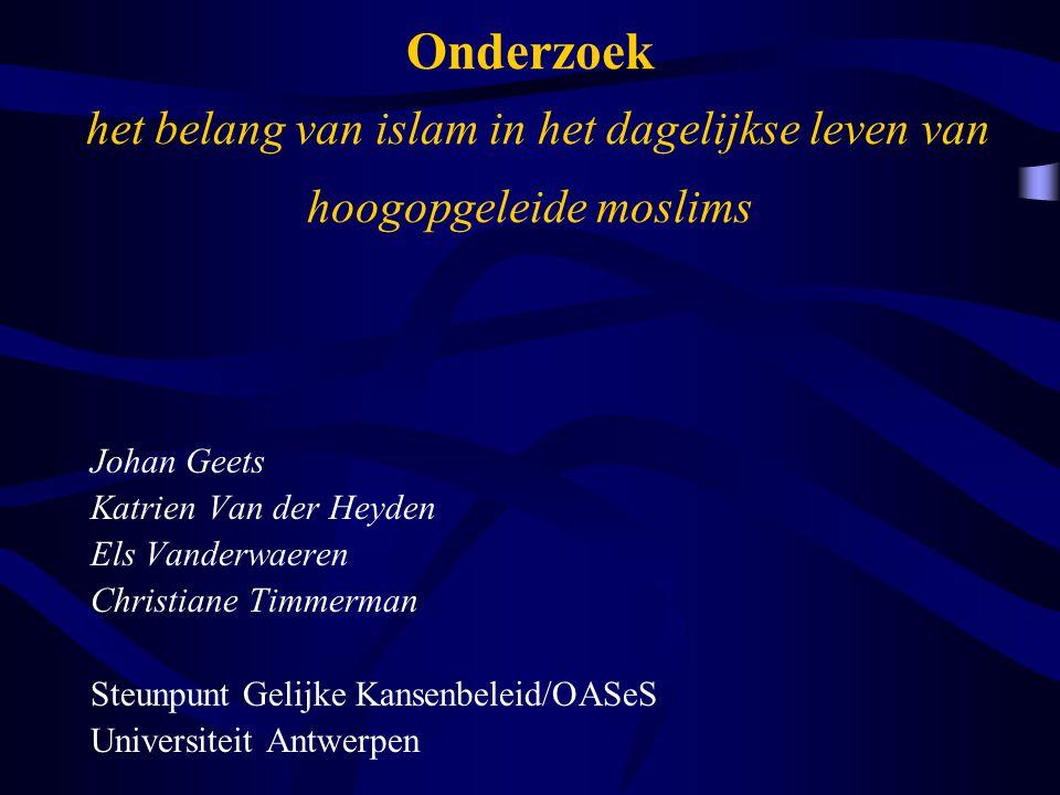 Onderzoek het belang van islam in het dagelijkse leven van hoogopgeleide moslims